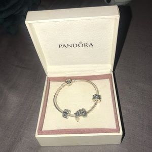 Pandora bracelet with wing charm